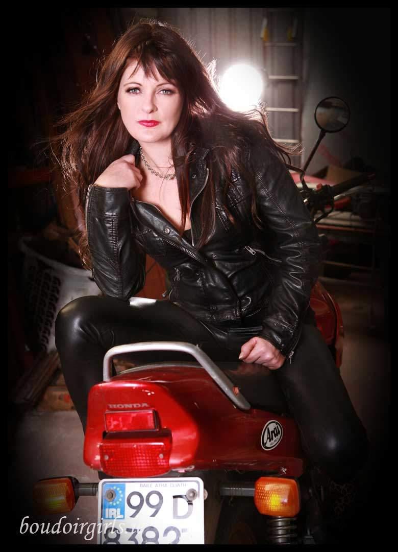 Lisa S Motorbike Photoshoot Boudoir Girls