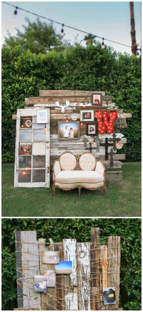 11 DIY Outdoor Photo Booth ideas - Boudoir Girls