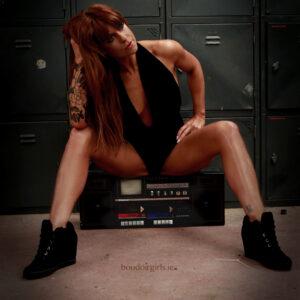 Fitness and boudoir photoshoot