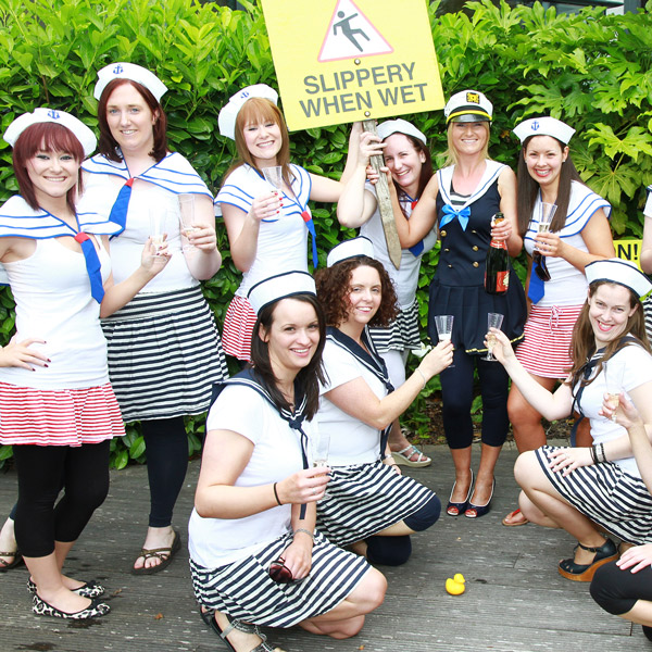 Sailor girls hen party