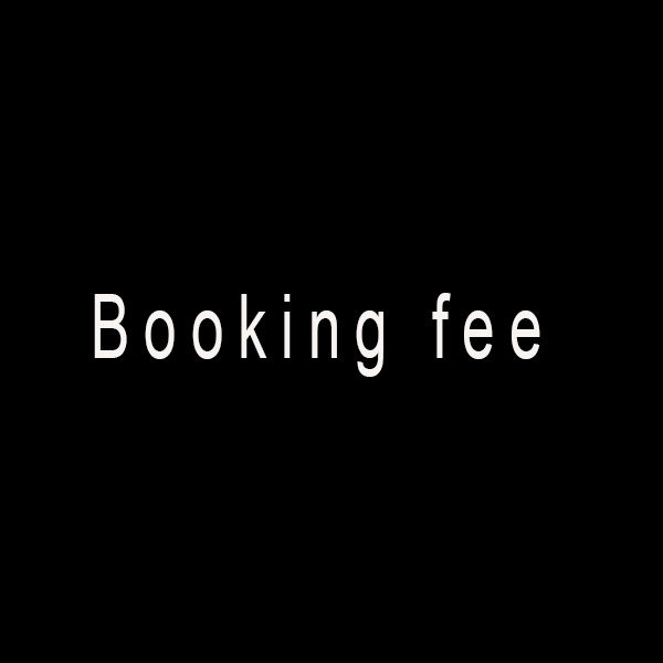 photoshoot booking fee